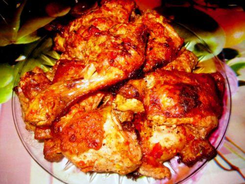 Куриные бедра с аджикой в духовке рецепты