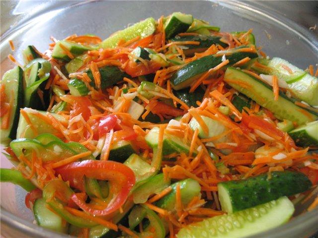 Салат из капусты свежий огурец по-корейски