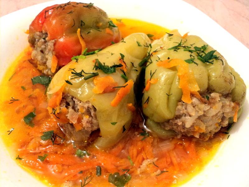 Фаршированный перец с мясом и рисом рецепт пошагово