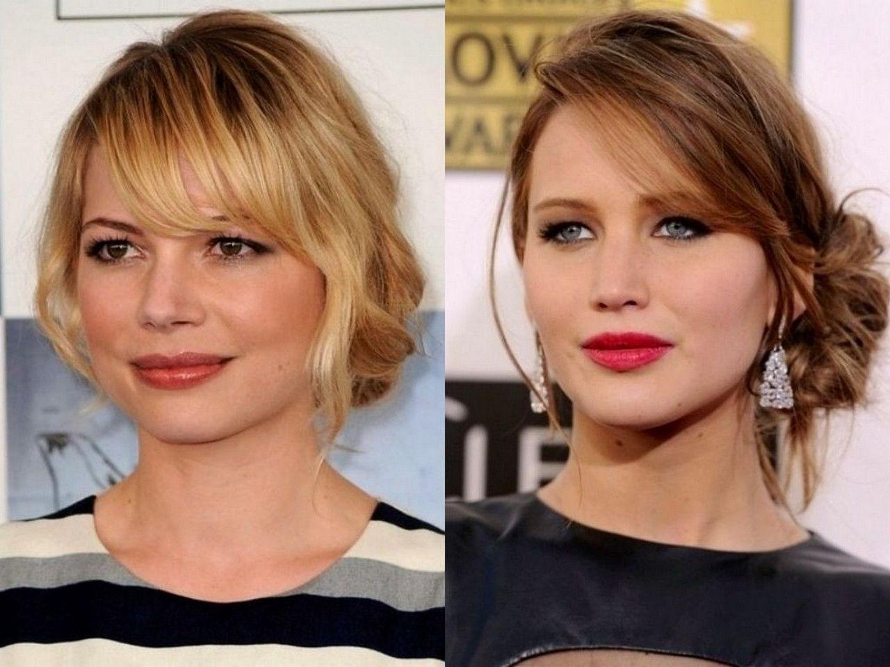 Как сделать прическу самой на средние волосы для круглого лица