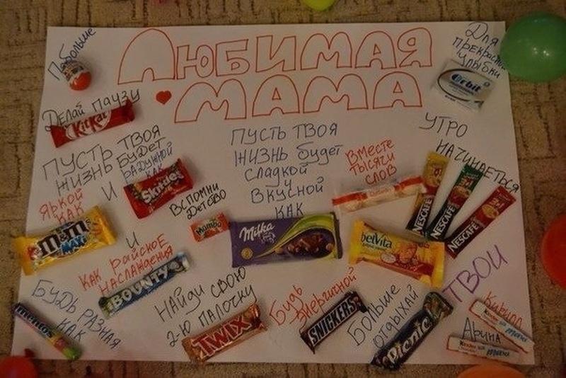 Плакат с шоколадками Подарки 83