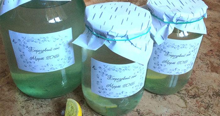 Сохранить березовый сок в домашних условиях 434