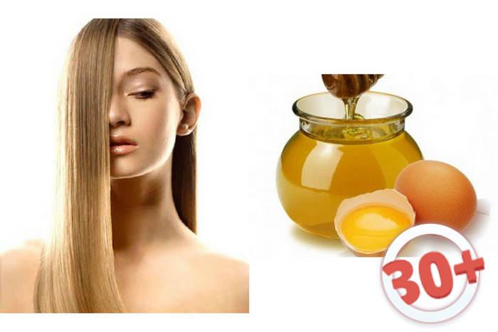 Маска для волос с медом и яйцом на немытые волосы