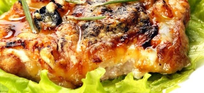 рецепт мяса по-французски из курицы с грибами и картошкой