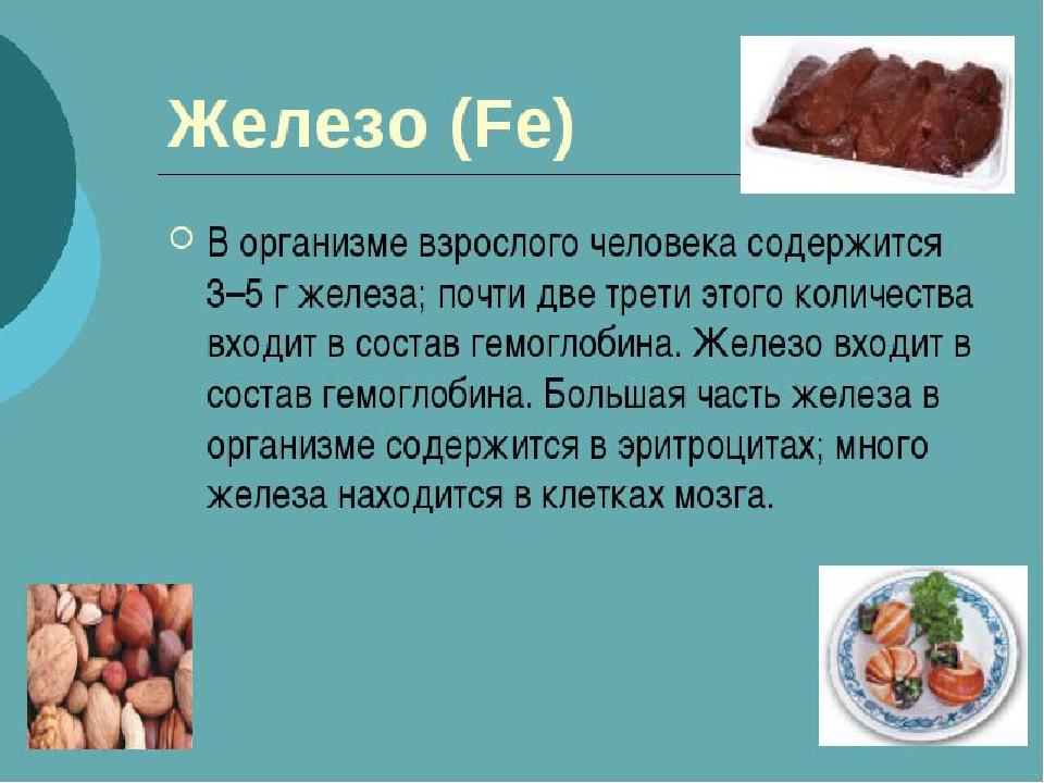 Количество железа в организме