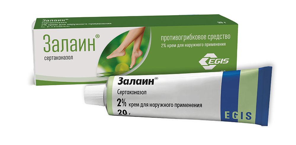 Грибок ногтей средства для лечения дешевые и эффективные-мазь Залаин