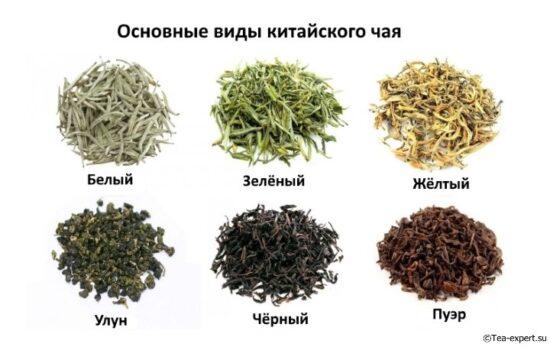 каким бывает чай сорта и основные виды