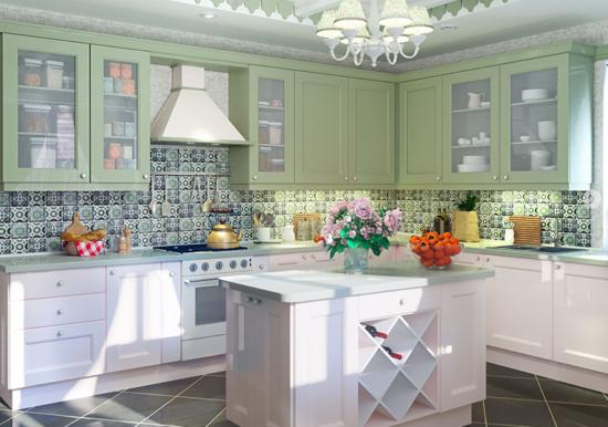 кухни в стиле прованс в квартире или доме