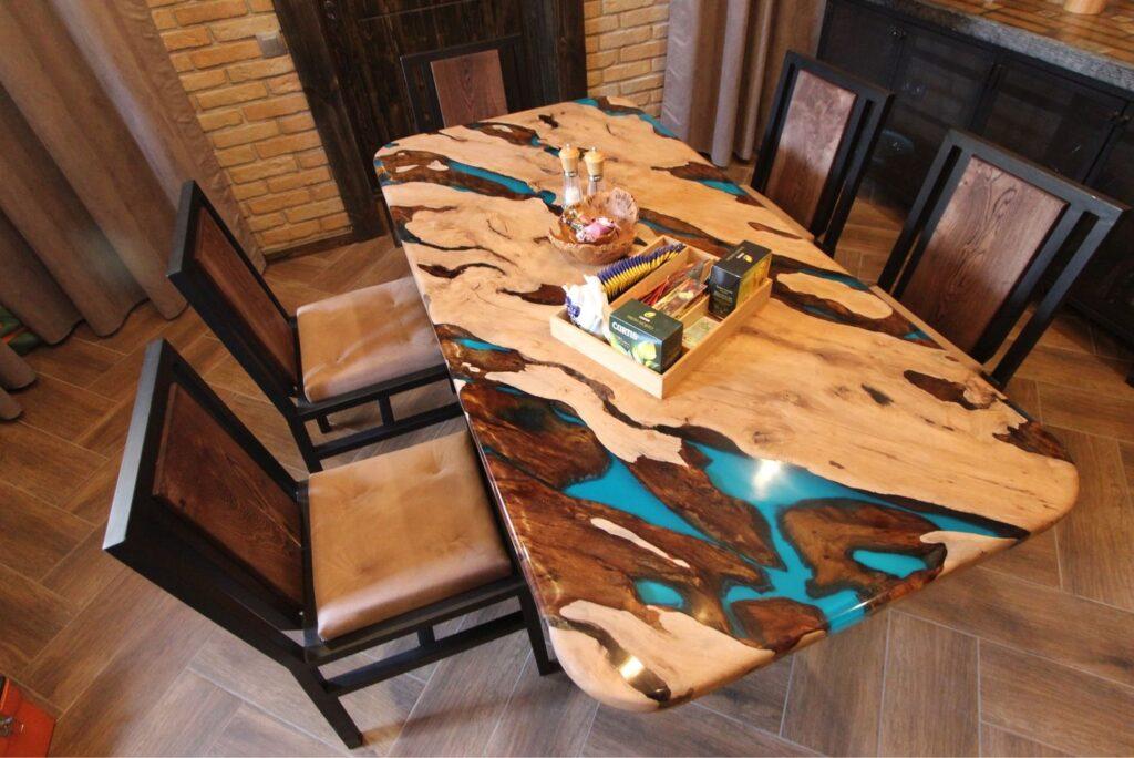 Столы из слэбов дерева