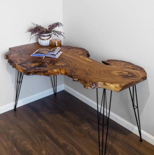 Столы из слэбов дерева в интерьере